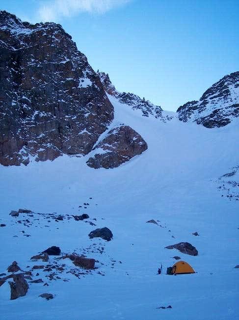 Camp on Grasshopper Glacier,...
