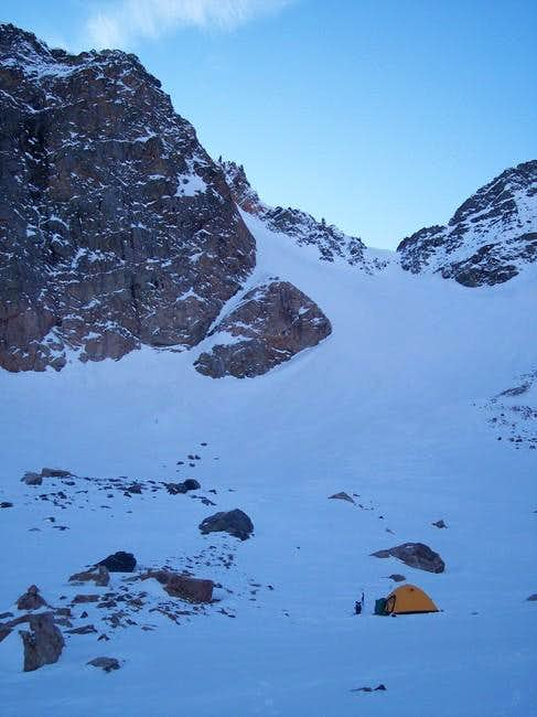 Camp on Grasshopper Glacier,...