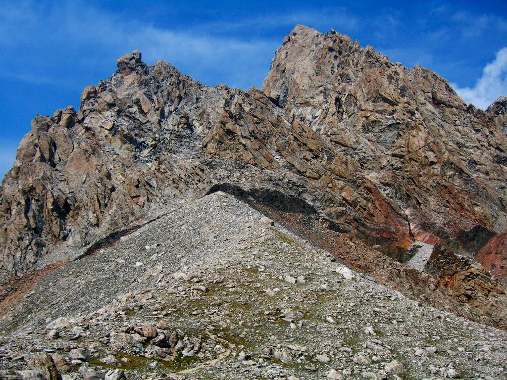 Route to upper saddle...
