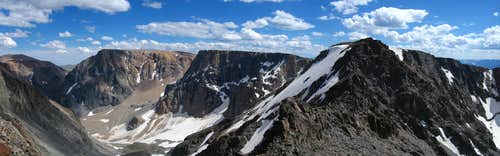 Beartooth Mountain summit pano