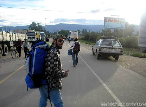 Starting to walk towards La Paz