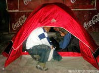 Camping at the street!