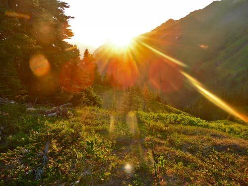Sunset over White Mountain