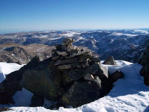 Summit cairn on Spirit...