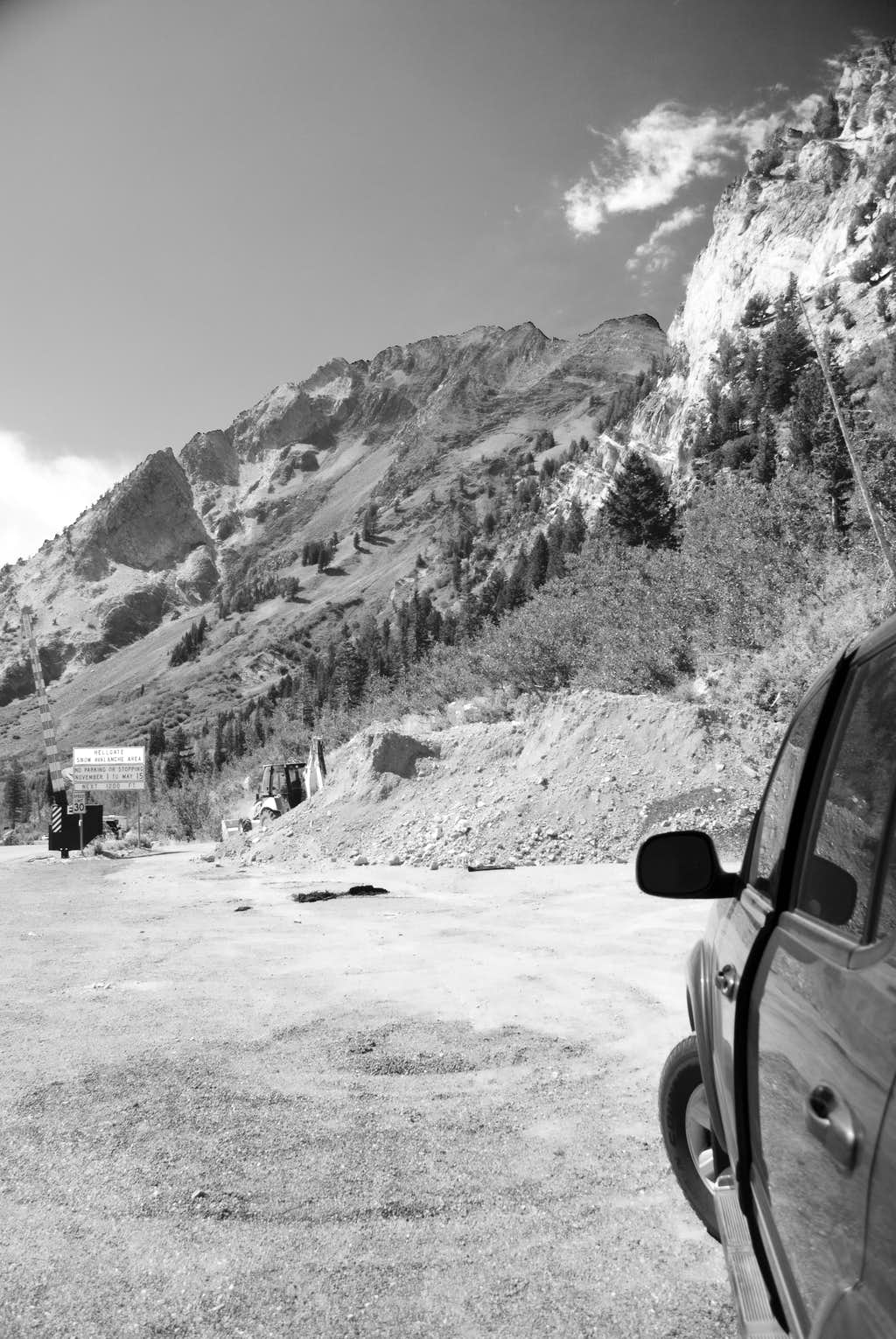 Mt. Superior from the Little Cottonwood Canyon highway.