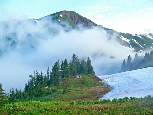 White Mountain with Morning Mist
