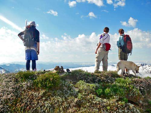 Enjoying the Summit of White Mountain