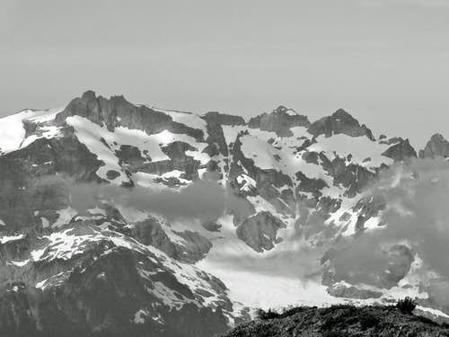 Monte Cristo Peaks B&W