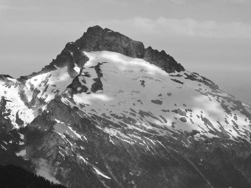 Sloan Peak with Contrasting Light