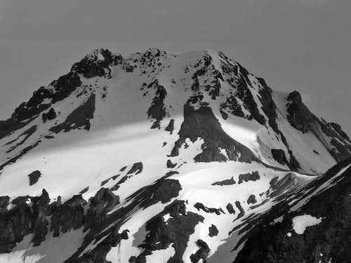 Glacier Peak with Contrasting Light