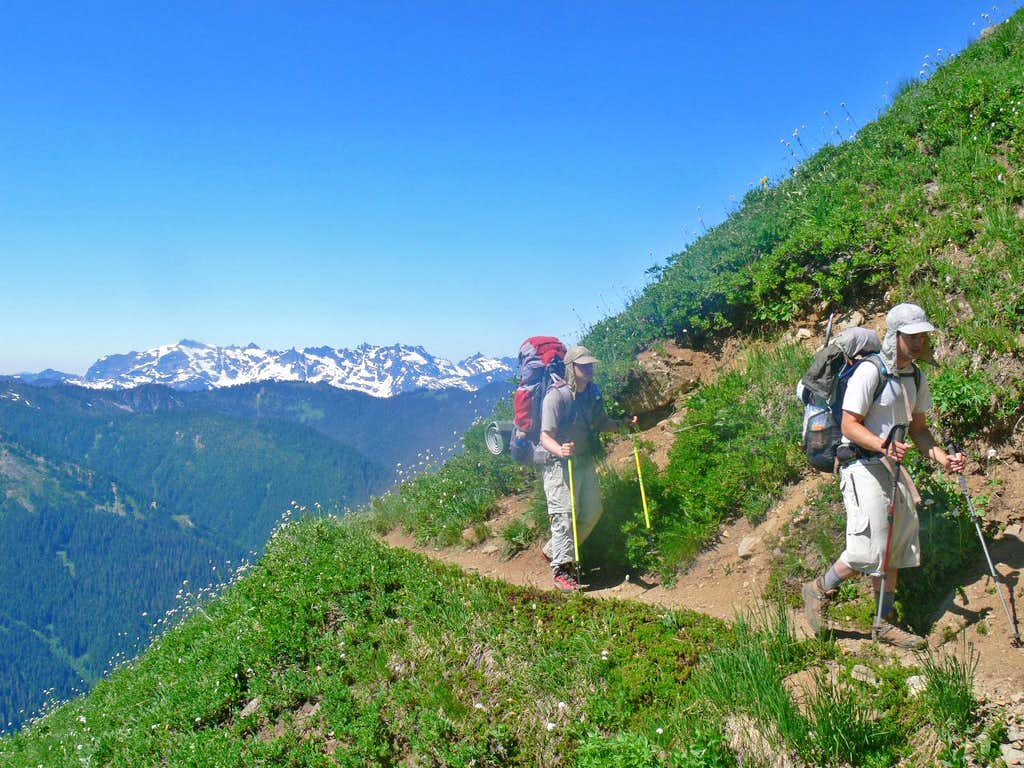 Hiking the trail to White Pass