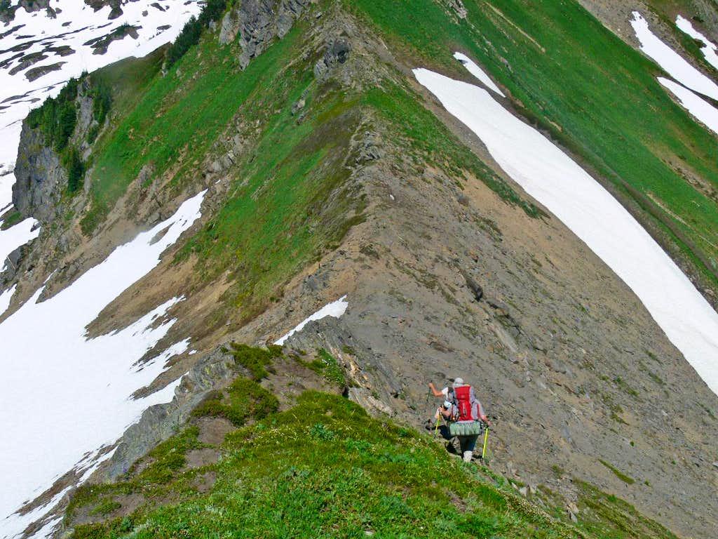 Hiking down the Ridge