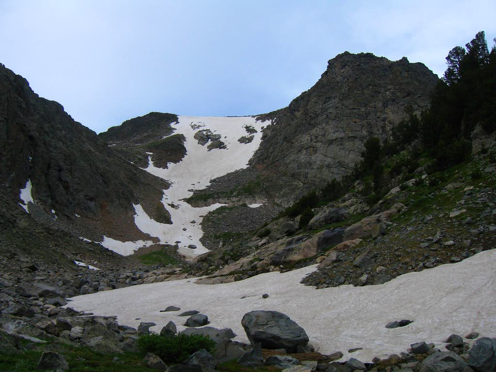 Snowfield to climb...
