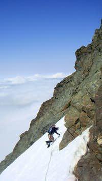Approaching the rock climb