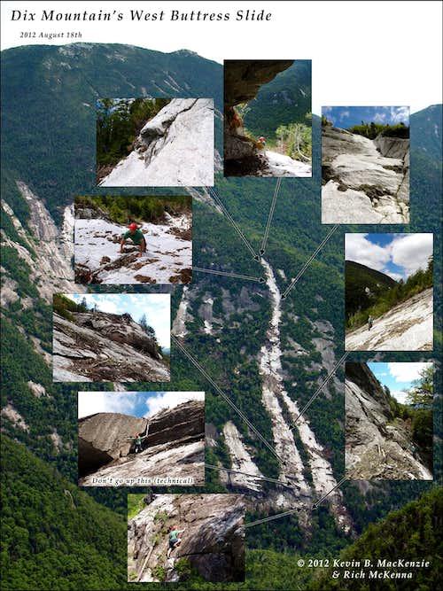 Dix Mountain West Buttress Slide