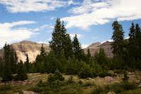Kings Peak from near Island Lake
