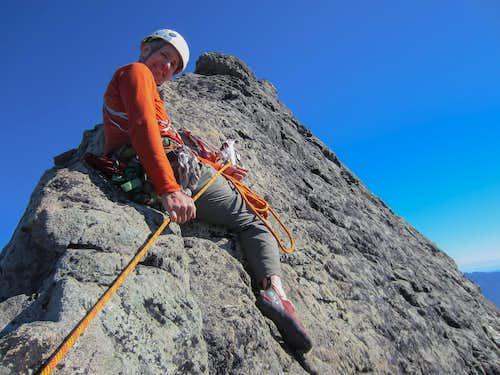 Bob on summit ridge Mount Cruiser