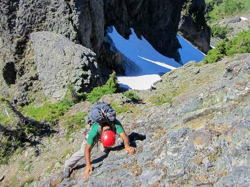 Downclimbing on Mount Cruiser
