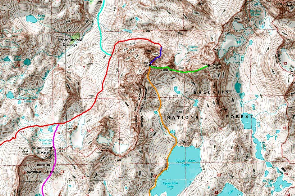 Glacier Peak Map