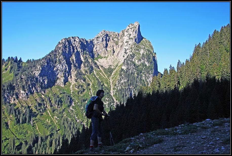 Towards Chalet de la Chenau