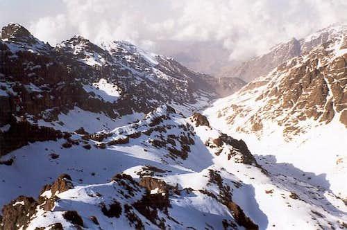 Mizane valley from the summit...