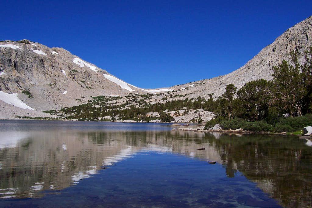 Piute Lake and Piute Pass