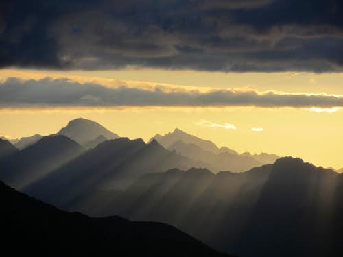 Rötspitze at sunrise