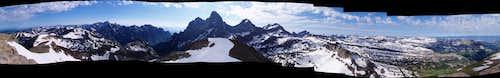 Teton Range Panorama - Table Mountain