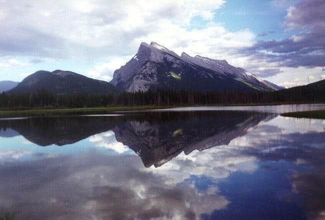 Mt. Rundle from the lakes...