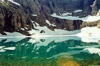 Iceberg Lake sits in the...