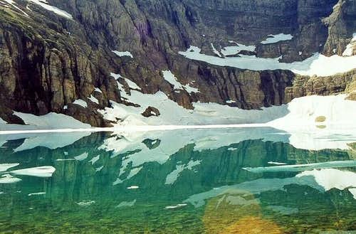 Iceberg Lake sits in the...