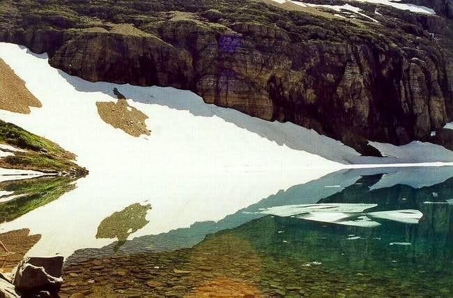 Iceburg Lake sits in the...