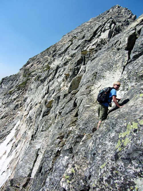 David below knife edge