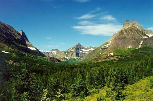 Swiftcurrent valley from the...