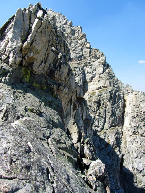 Cliffs north of Buck Mountain fortress