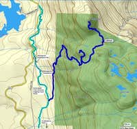 Mt. Hallowell Map