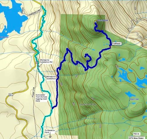 Mt. Hallowell Map