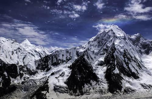 Circumhorizontal Arc on Laila Peak