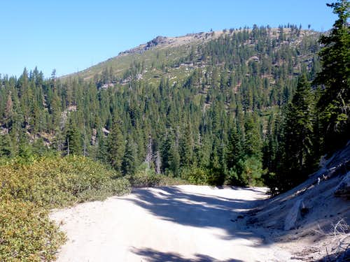 Descending Verdi Peak Road with a view towards Point 7776