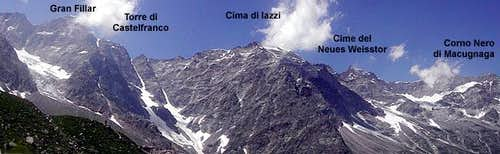 .. north of Monte Rosa the...