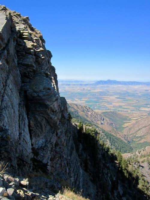 Cache Valley from Cherry Peak