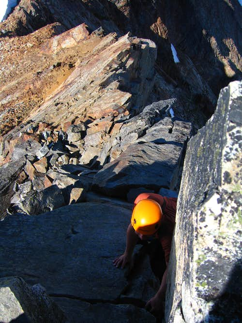 Climbing Sahale Peak