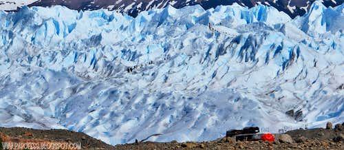 Big chunk of ice, little people...