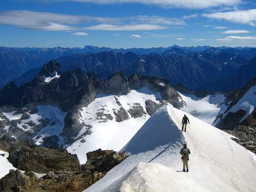 Final snowfield on Dome
