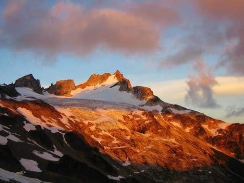 Dome Peak alpenglow
