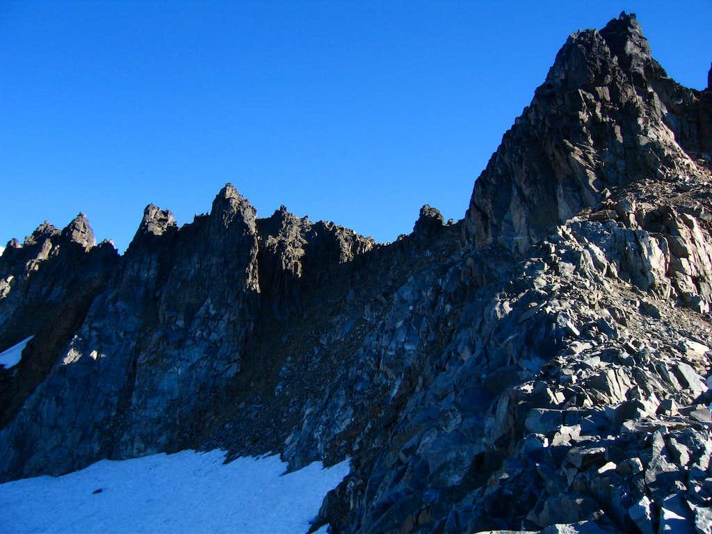 Climbing Itswoot Ridge