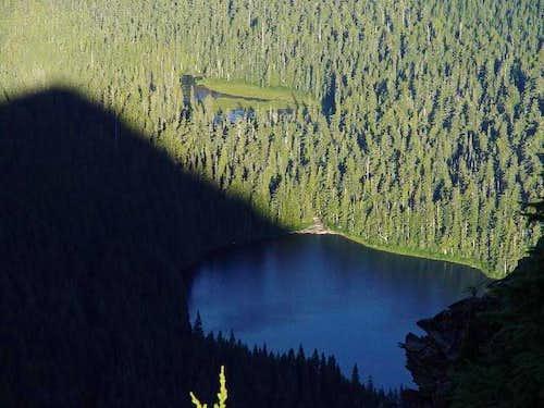 Elk Lake Shadowed By Battle...