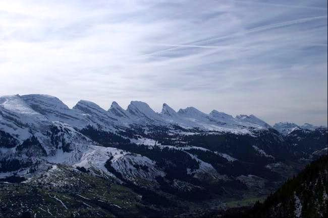 The 7 summits seen from NE