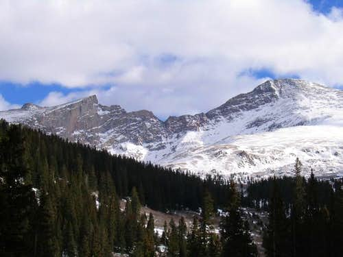 The Sawtooth Ridge from a...