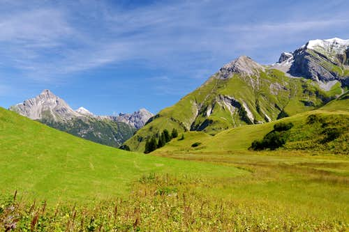 At the Bürstegg pasture above Lech am Arlberg